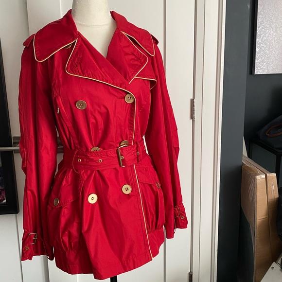 Rachel Zoe Jackets & Blazers - Rachel Zoe Red Trench Coat XS